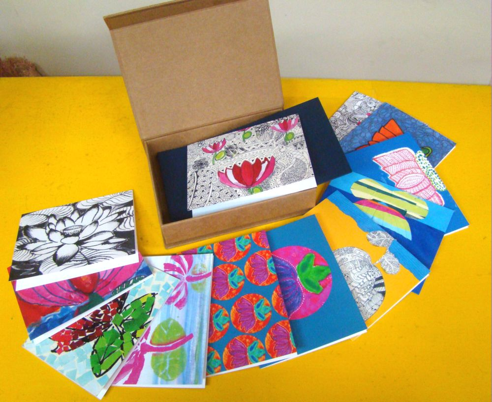 Lotus Card set - Art for Akanksha